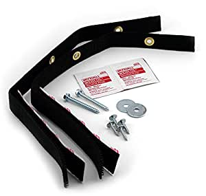 Quakehold! 4160 Furniture Strap Kit, Black