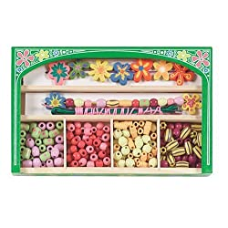 [Best price] Puzzles - Melissa & Doug Flower Power Wooden Bead Set - toys-games