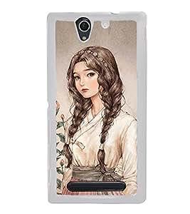 Printvisa Cute Girl 2D Hard Polycarbonate Designer Back Case Cover For Sony Xperia C4 Dual :: Sony Xperia C4 Dual E5333 E5343 E5363