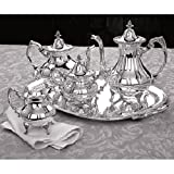 REED & BARTON BURGUNDY 5-PC. SILVERPLATED TEA SET