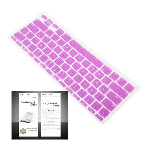 "Smart Tech ® Ultra Thin Silicone Keyboard Cover Skin For Apple Macbook Air 11.6""(Model:A1370 And A1465) (Keyboard Cove+Purple)"