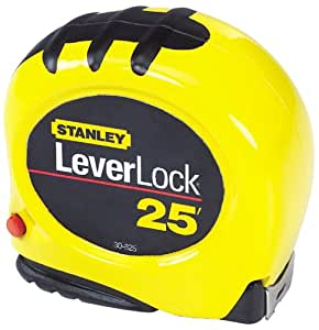 Stanley 30-825 25-Foot-by-1-Inch LeverLock Tape Rule