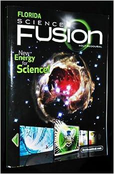 fusion science florida edition grade flip front holt interactive books amazon student worktext mcdougal