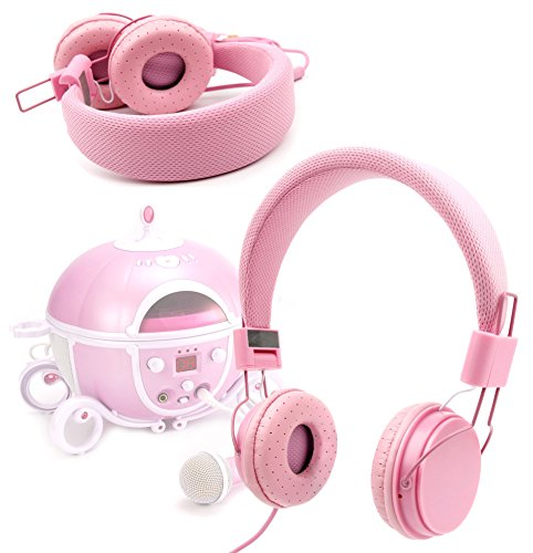 DURAGADGET-Pink-Ultra-Stylish-Kids-Fashion-Headphones-For-Disney-Princess-Karaoke-CD-Player