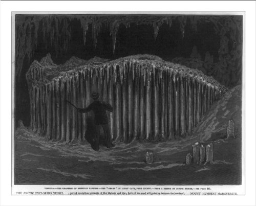 Historic Print (L): Virginia - The Grandest of American Caverns ... Luray Cave, Page County - The Organ
