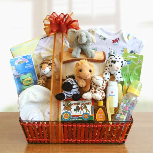 Givens And Company Noah'S Ark Newborn Gift Basket, 16L X 10W X 16H In.