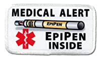 EPIPEN INSIDE Medical Alert Symbol Rectangle Sew-on Patch from Creative Clam