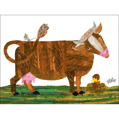 "Oopsy Daisy NI2550 Eric Carle's Cow and Friends Canvas Wall Art, 24"" by 18"""