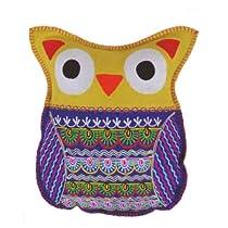 Karma Living Felt Owl Pillow Lime
