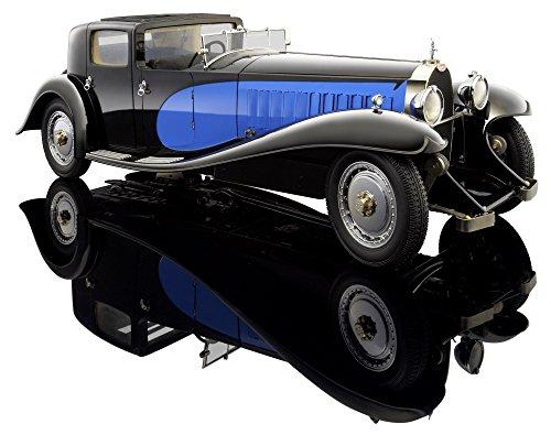 1930-Bugatti-Royale-Coupe-de-Ville-Bauer-Exclusive-3293-J4-Blau-Schwarz-118-Die-Cast