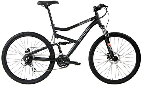 2017 Windsor Trail 27.5 Dual Full Suspension Mountain Bike Disc Brakes Shimano (Matt Black, 17in) (Mountain Bike Gary Fisher compare prices)