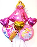 Princess Cinderella Snow White Sleeping Beauty Disney Foil Girls Birthday Balloons Multipack