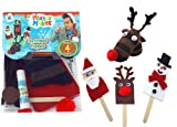 Mister Maker Christmas Puppets: Each kit contains 1 Reindeer sock puppet & 3 Play stick Puppets - Snowman, Reindeer & Father Christmas