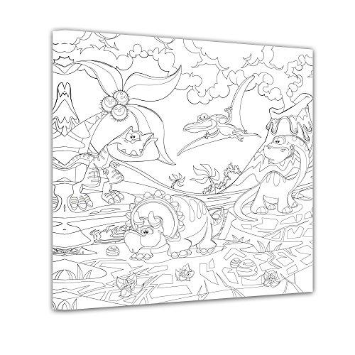 Wandmotive Selber Malen : Einführungsangebot Bilderdepot24  Dinosaurier  Ausmalbild auf