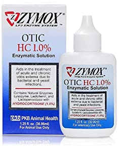 2 Pack Zymox Otic With 1.0% Hydrocortisone 1.25 Oz Bottle
