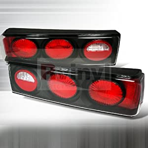 Ford Mustang 1987 1988 1989 1990 1991 1992 1993 Altezza Tail Lights - Black