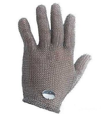 Stainless Steel Mesh Hand Glove - Cut Resistant (L) (Meat Cutter Gloves compare prices)