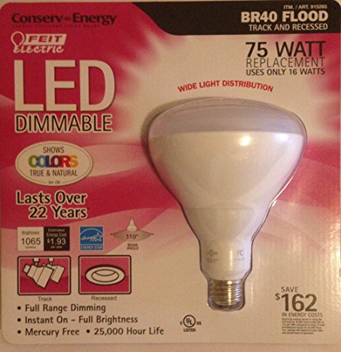 Feit Electric Conserv-Energy Dimmable BR40 LED