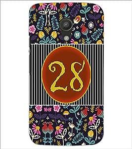 PrintDhaba Numerology Number 28 D-3117 Back Case Cover for MOTOROLA MOTO G2 (Multi-Coloured)