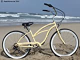 Women's Urban Lady 7 Speed Beach Cruiser Bike Color: Vanilla