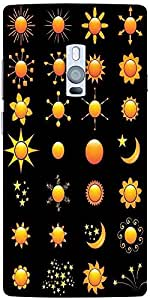 Snoogg Sun Vectors Designer Protective Back Case Cover For One Plus Two