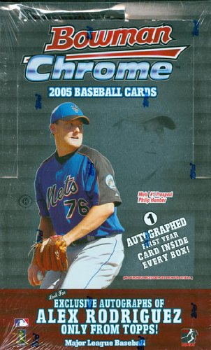 2005 Bowman Chrome Baseball Cards Wax Box (Hobby Edition)