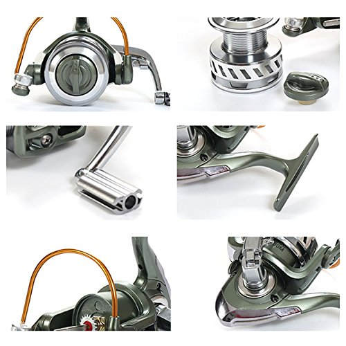 121-Stainless-Steel-Ball-Bearings-Fishing-Spinning-Reel-Freshwater-Saltwater-With-521-Gear-Ratio-Metal-Body-Leftright-Interchangeable-Collapsible-Handle-Spinning