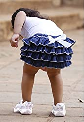 Dchica Frilly Chic Denim Skirt (Limited Stock Offer Buy any of the Clothes Of D'chica and get a