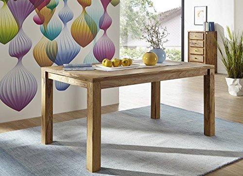 Meubles en bois de palissandre massif huilé table 140 x 90 meubles en bois de sheesham massif nature#813 brown marron