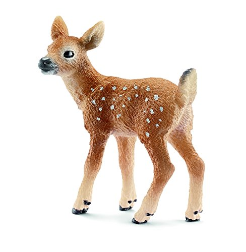 Schleich White-Tailed Fawn Toy Figure - 1