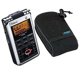 Roland R-05 WAV / MP3 Handheld Recorder with Roland OP-R09HR-P