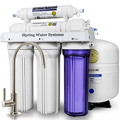 iSpring RCC7 WQA Gold Seal Certified 5-Stage Reverse Osmosis Drinking Water Filter System – 75 GPD