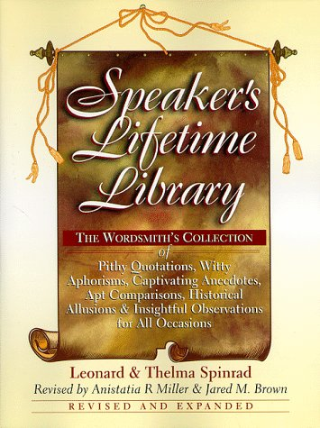 Speaker's Lifetime Library, Leonard Spinrad, Thelma Spinrad