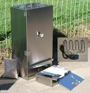 FUMOIR DE 80X39X27CM - acier inoxydable - CHAUFFAGE ÉLECTRQUE 2000W + THERMOSTAT 250°C