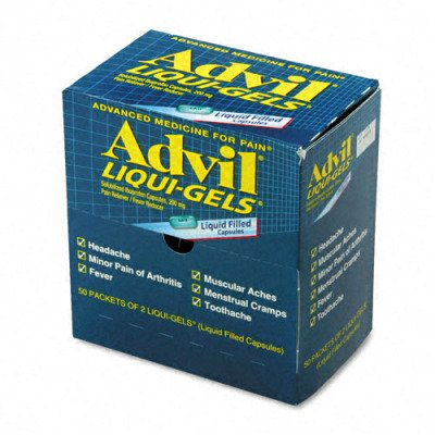 Advil Liqui-Gels Pain Reliever Refill - 50 Two-Packs per Box(sold in packs of 3)