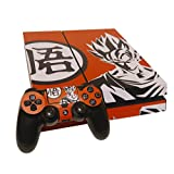 TFSM Branded Goku Saiyan PS4 Skin Play Station 4 Vinyl Protective Sticker for Console and 2 Controllers