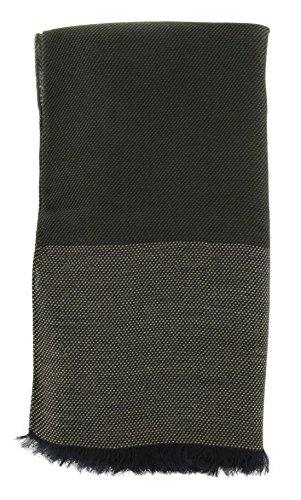 new-cesare-attolini-dark-green-cotton-blend-scarf
