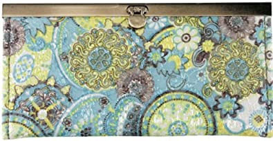 Femina Women's Cotton Wallet (light blue/yellow large flowers) with a NutriChart®
