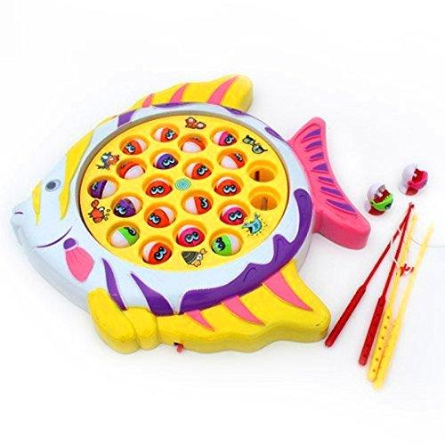 Giochi Magnetico Gioco della Pesca Pesci Giocattoli Musicali per Bambini da 3 Anni