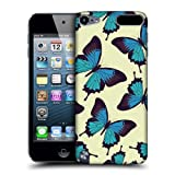 Head Case Blue Butterfly Pattern Back Case Cover For Apple iPod Touch 5G 5th Gen