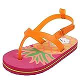 Happy Cloud Girls' Orange Rubber Flip Flops - 9 UK