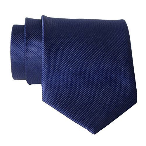 new-polyester-textile-high-quality-mens-neckties-navy-blue-solid-color-neck-tie