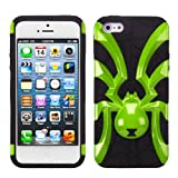 MYBAT Solid Pearl Green/Black Spiderbite Hybrid Protector Cover for APPLE iPhone 5
