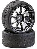 Carson 500900616 1:10 Drift Räderset 9 Speichen 4, schwarz