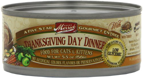 Merrick Thanksgiving Day Dinner Cat Food 5.5 oz (24 Count Case)