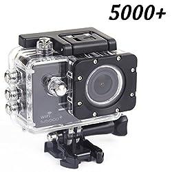 Original Sj5000 Plus Wifi Sports Action Camera Sjcam Sj5000+ Water Resistant Helmet Head Video Camcorder (Black)