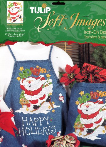 Tulip Soft Images Iron-On Transfer ~ Santa On The Fly