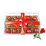 Tantalizing Wrapped Choco Treat With Red Rose - Chocholik Luxury Chocolates