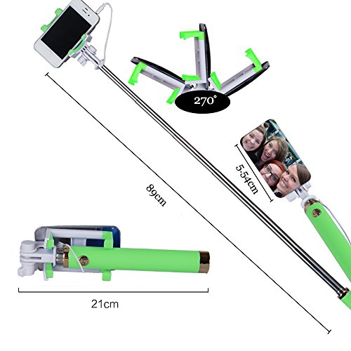 qhe selfie stick quick snap hd self pro 4 in 1 ultra compact foldable extendable self portrait. Black Bedroom Furniture Sets. Home Design Ideas