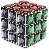 GamCube(TM) Zinc Alloy Handmade 3x3x3 Metal Cube Puzzle With Diamonds Tiled
